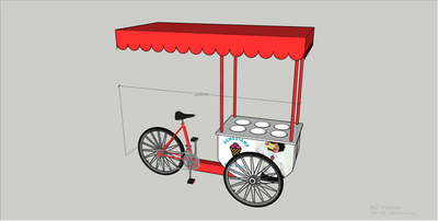 2020 Front Load Tricycle Ice Cream Bike for Sales