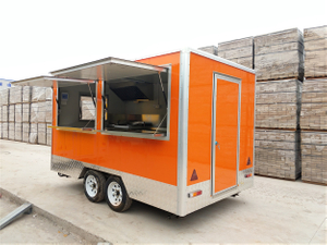 Hot Sell Fully Equipped Food Pizza Truck Seating Mobile Food Trailer with Wheels