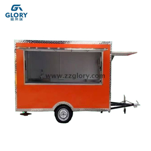 3.0m Customized Modern Hamburger Mobile Food Vending Cart