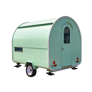 Modern Design Hand Push Mobile Kitchen Food Cart Trailer Van for Sale