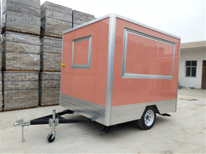 American Standard Square Top Outdoor Ice Cream Fast Food Truck / Mobile Food Truck For Sale