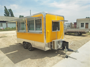 3.5M Length Outdoor Vending Bakery Cooking Mobile Food Trailer with BBQ equipment