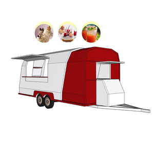 2020 New 4 Wheels Double Axle Camper Trailer Food Vendor Trucks