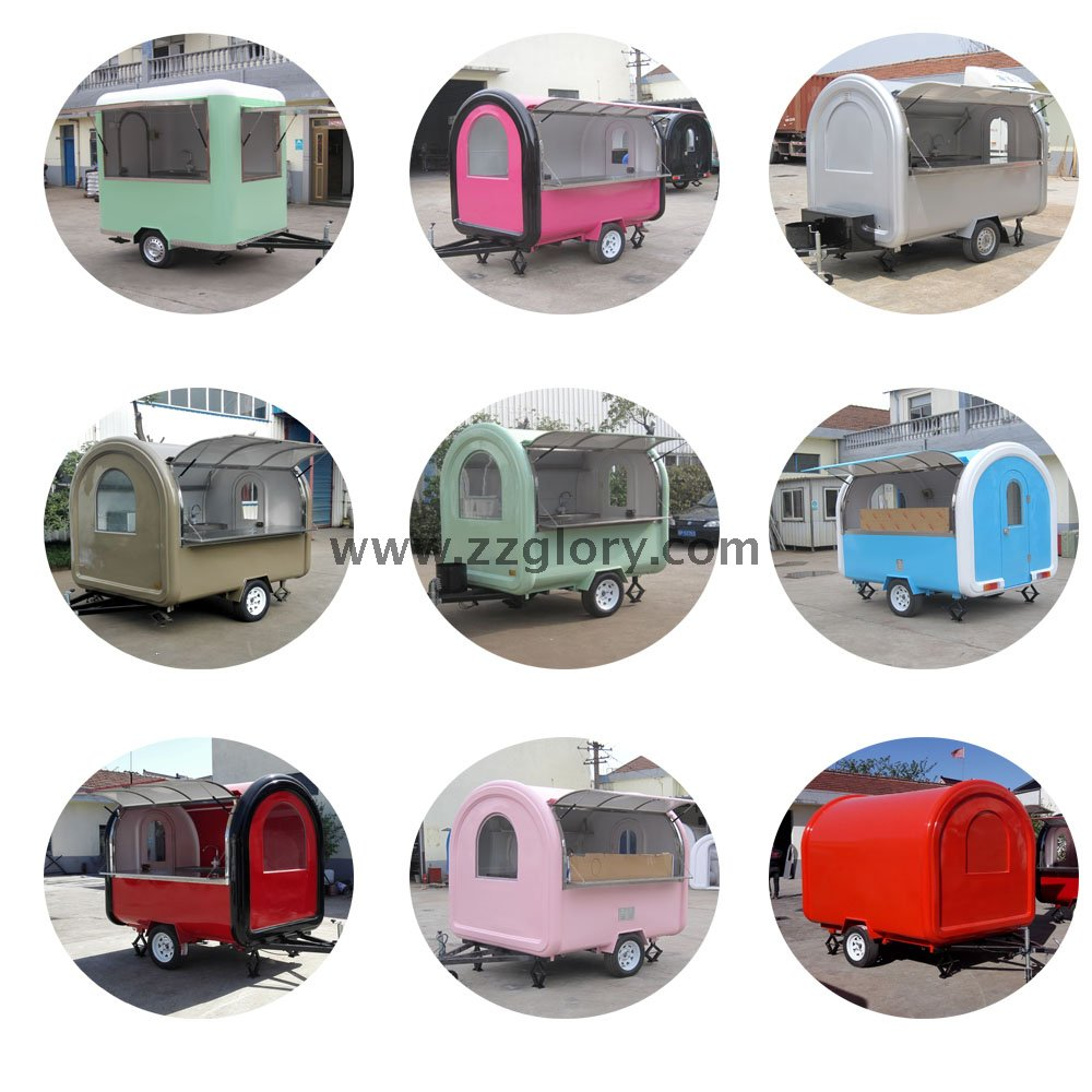 Top Selling CE Customized Outdoor Mobile Trailer Type Fast Food Truck