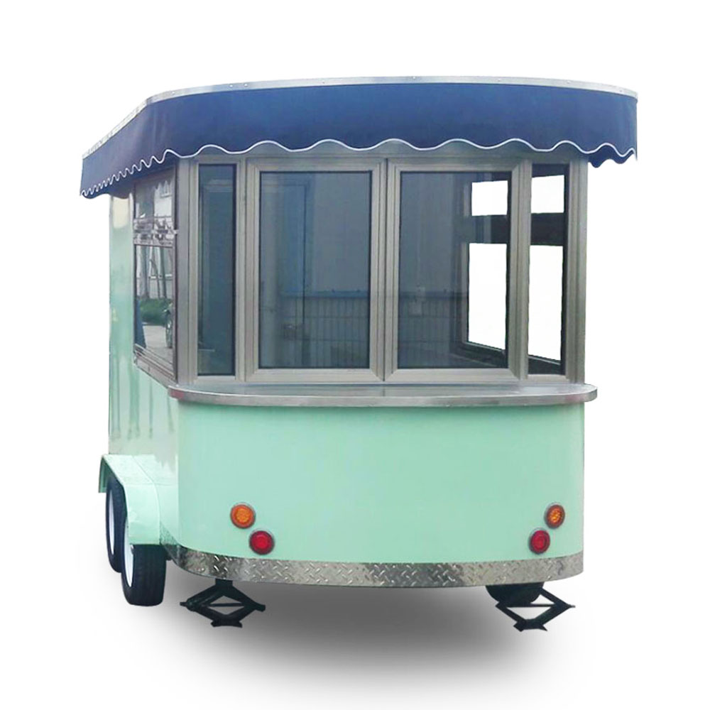 High Quality Food Truck Hot Dog Ice Cream Mobile Trailer For Sale
