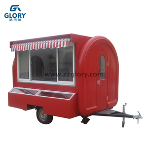 New Type Sliding Windows Campervan Concession Stand Gourmet Mobile Food Truck