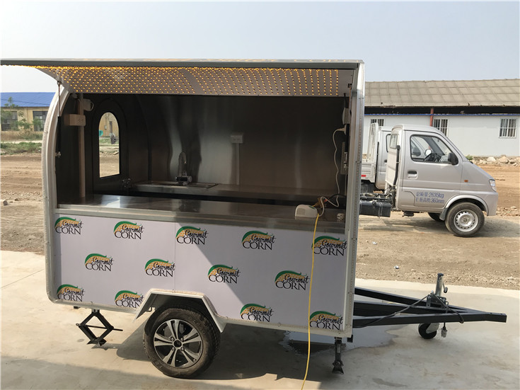 Glory New Design 2.8m Bbq Food Trailer Australia with Milk Shake Machine