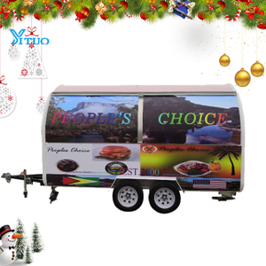 Well Design Food Truck Chinese Mobile Food Trailer for Sale Snacks in Scenic