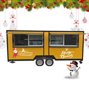 Best-selling Popular Food Vending Truck with 2 Axles 4 Wheels Mobile Food Truck